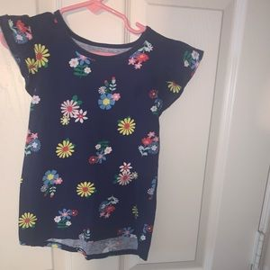 Toddlers Flower Patterned Top Size 6-6x